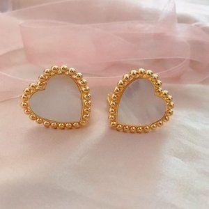 Tory Burch Mother Shell Metallic Pearl Earrings